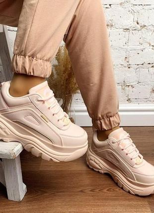 Новые шикарные женские бежевые  кроссовки