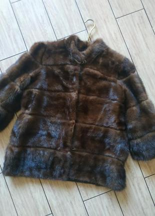 Норковая шуба полушубок куртка норка