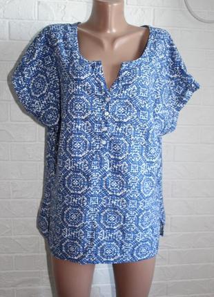 Натуральная блузка m&co в идеальном состоянии 3xl