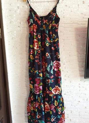 Длинное цветочное платье сарафан iska london