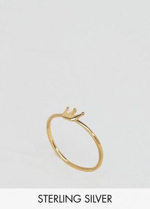 Колечко корона, кольцо, перстень з сайту asos