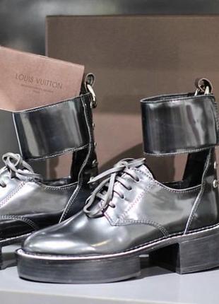 Шикарные ботинки кожа louis vuitton