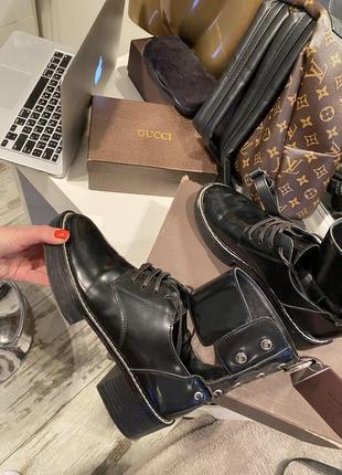 Шикарные ботинки кожа louis vuitton7 фото