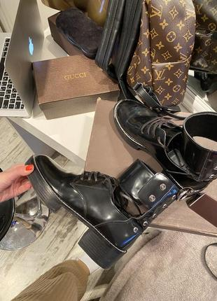Шикарные ботинки кожа louis vuitton8 фото