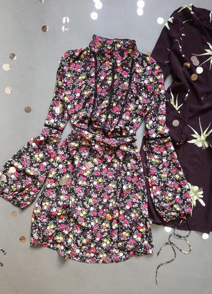 Шикарное платье в цеточек h&m