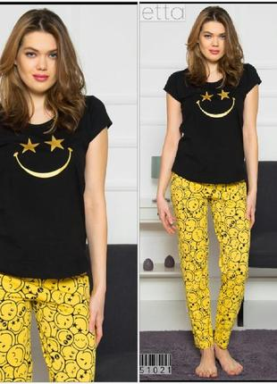 Пижама женская штаны футболкой vienetta secret