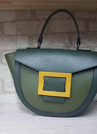 Зеленая итальянская сумка