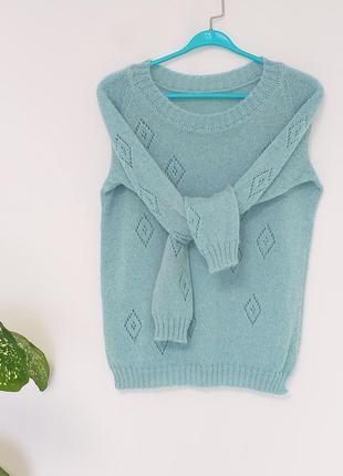 Вязаный свитер из итальянского кид мохера
