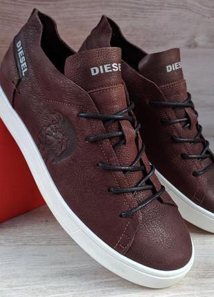 Diesel мужские кожаные кеды (кроссовки,туфли)