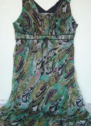 Платье шифон на подкладке р. 22