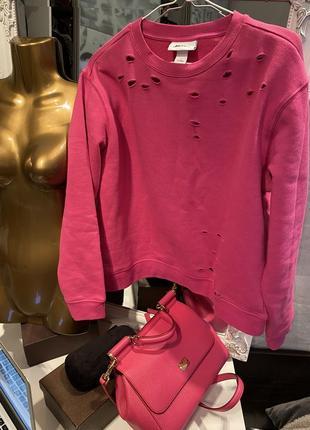 Крутой яркий свитер кофта толстовка