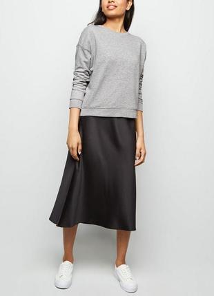 Серый базовый свитшот оверсайз asos, хлопковый серый худи