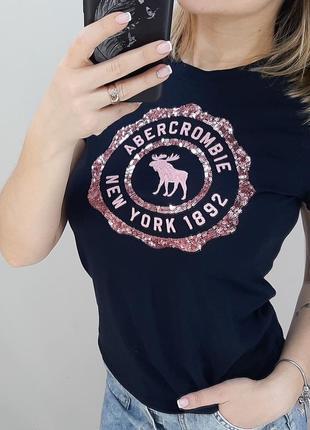 Abercrombie футболка оригинал с пайетками