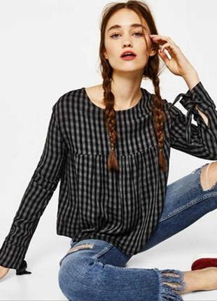 Блуза, рубашка в клетку bershka
