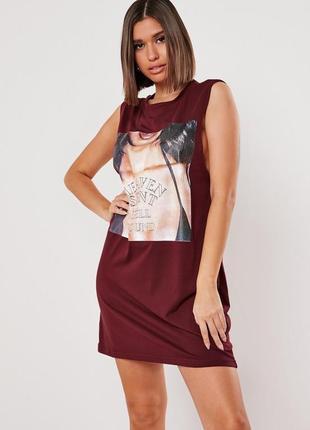 Missguided. товар из англии. платье майка с пафосным рисунком.