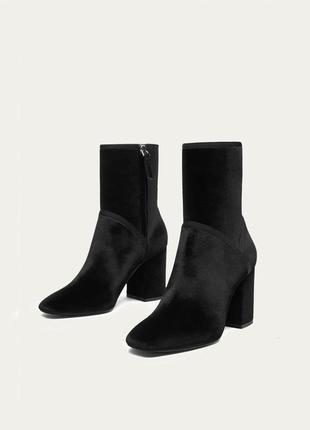 Новые кожаные ботинки ботильоны massimo dutti бархатные натуральная кожа cos zara