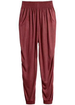 Терракотовые брюки из вискозы