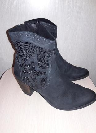 Утепленные ботинки кожа.