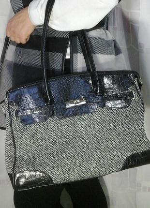Крутая сумка из твида