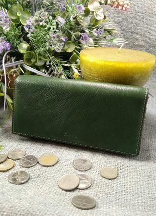 Большой кожаный кошелек арлекин, 100% натуральная кожа, есть доставка бесплатно