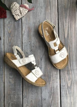 Rieker кожаные босоножки на липучках сандалии