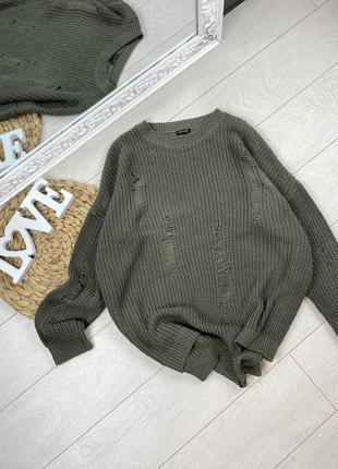 Распродажа 🔥 свитер с рваностями