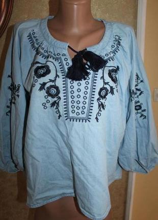 Завоз тут! м разм. fb sister красивая рубашка - вышиванка