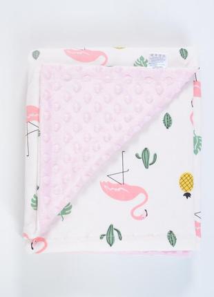 Покрывало детское в кроватку фламинго