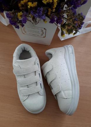 Кеды, кроссовки белые