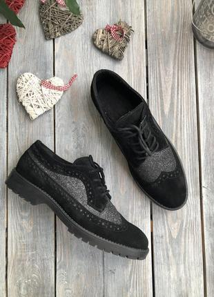 5th avenue замшевые туфли на шнуровке