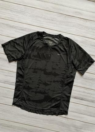 Оригинальная рефлективная термо футболка nike dri fit pro camo