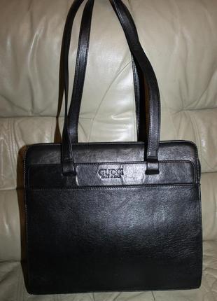 Кожаная сумка gucci  италия