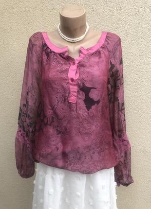Шелк,блуза реглан,рубаха,кофточка шелковая,этно бохо стиль,