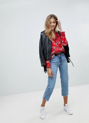 Яскрава блуза в піжамному стилі missguided
