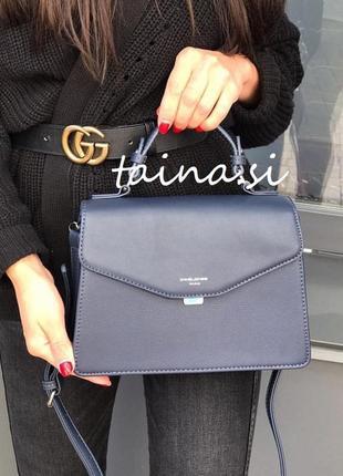 Клатч david jones 5819-2 d. blue оригинал синий кросс боди сумка