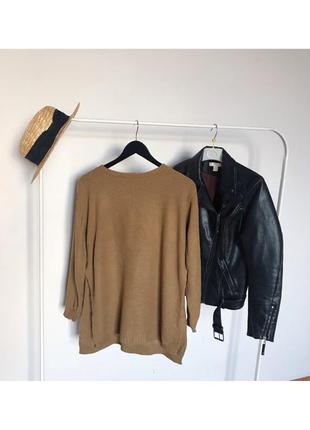 Шикарный длинный свитер джемпер boohoo акрил с разрезами по бокам.