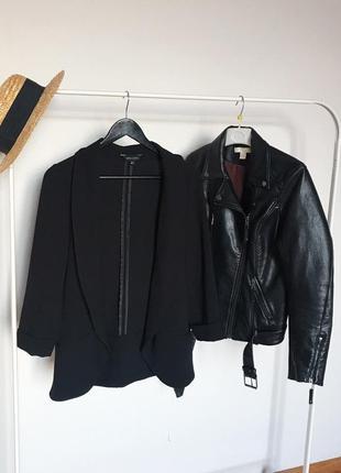 Стильный чёрный пиджак жакет тренч new look. р-р м