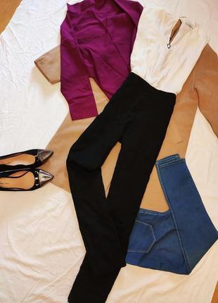 Комбинезон брючный классический шифоновая белая блуза брюки черные коттон next
