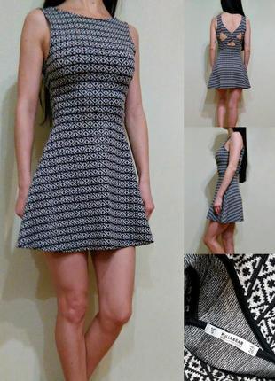 Платье с красивой спинкой - трикотаж средней плотности