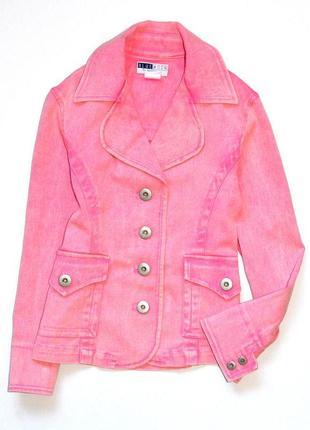 Blue moon. винтажный розовый джинсовый дизайнерский жакет. 10 лет. рост 140 см