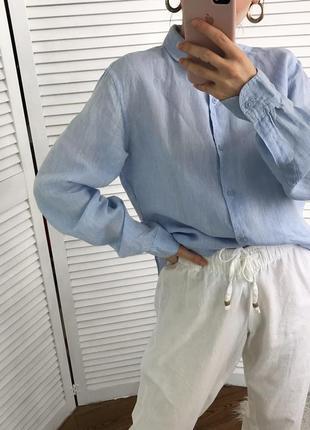 Розкішна базова сорочка з чистого льону
