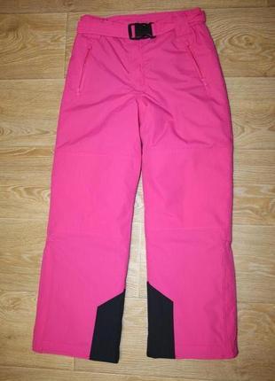 Яркие подростковые лыжные штаны charles voegele cold tech на рост 152 см