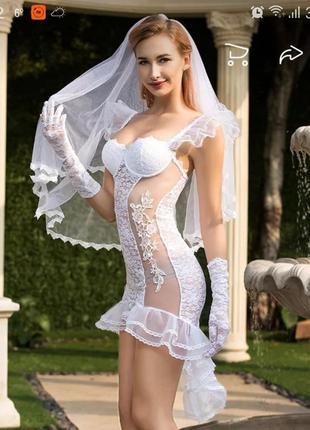 Пикантное белье, сексуальный костюм невесты, новый
