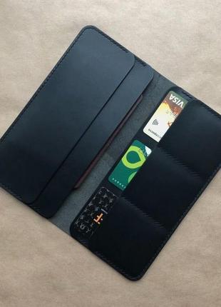 Шкіряний портмоне ручної роботи, кошельок із натуральної шкіри, шкіряний гаманець