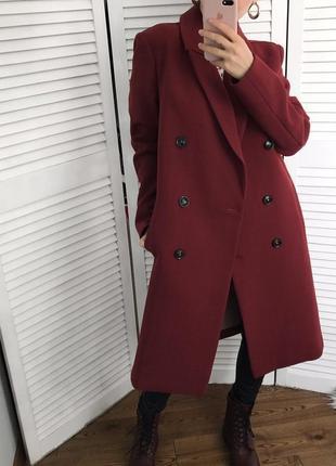 Двобортне весняне пальто