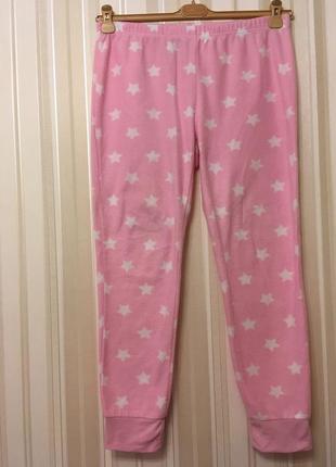 Флисовые мягкие розовые штанишки/для дома /для сна