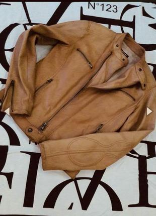 Кожаная куртка косуха от vera pelle