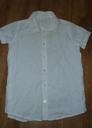 Белая льняная рубашка на 10 лет от debenhams