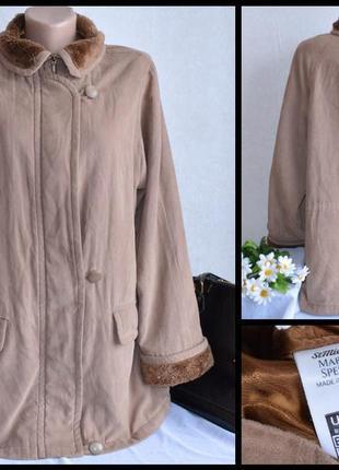Брендовая демисезонная куртка с меховым воротником st. michael шри ланка