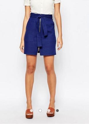 Джинсовая стрейчевая юбка на молнии размера xl-xxl